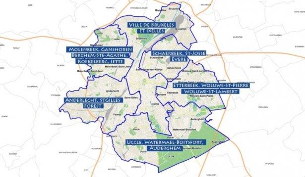 Zones de police Bruxelles